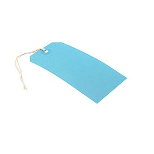 Q-Connect Strung Tag 120x60mm Blue Pack of 1000 KF01625