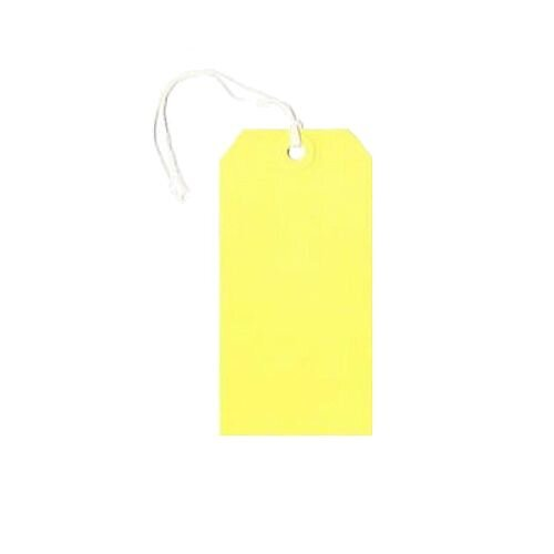 Q-Connect Strung Tag 120x60mm Yellow Pack of 1000 KF01626
