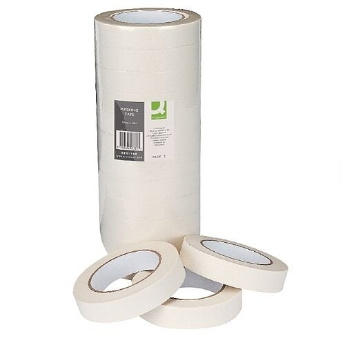 Q-Connect Masking Tape 24mm x 50m Pack of 12