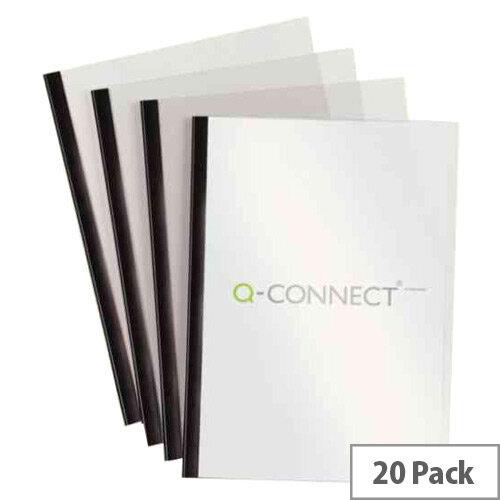 Q-Connect A4 5mm Slide Binder/Cover Set Black Pack of 20 KF01926