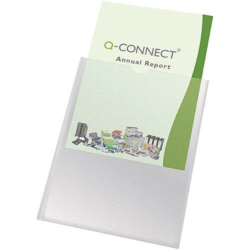 Q-Connect Card Holder A4 Pack of 100 KF01947