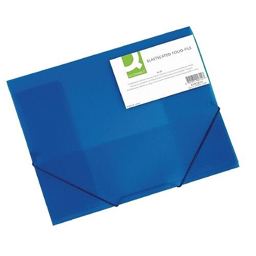 Elasticated Folio A4 Blue Q-Connect