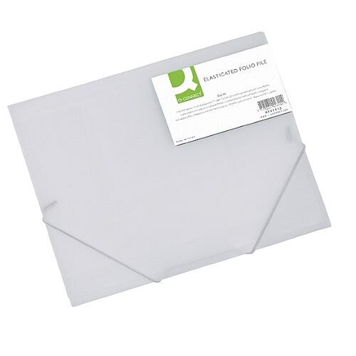 Elasticated Folio A4 Clear Q-Connect
