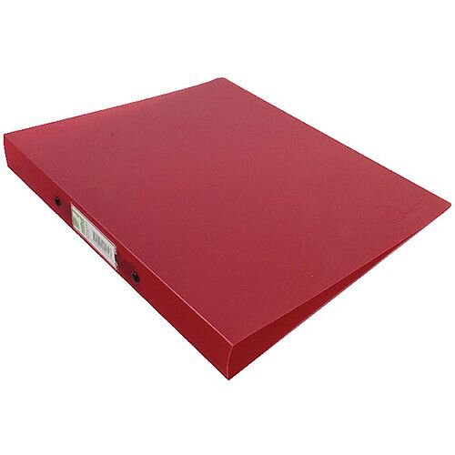 Q-Connect 2 Ring Frosted Red A4 Binder KF02482