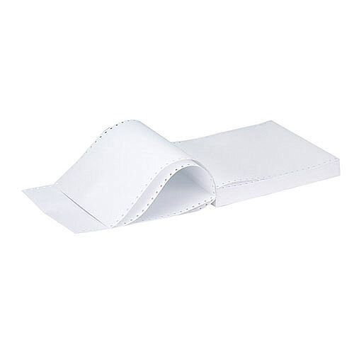 Q-Connect Listing Paper 11 inches x241mm 2-Part NCR Plain Pack of 1000 KF02708