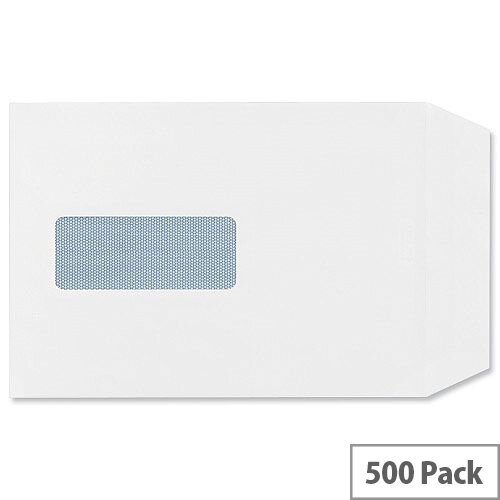 Q-Connect Envelopes C5 Window 90gsm White Self-Seal Pack of 500 KF02718