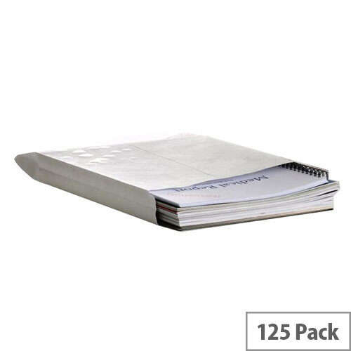 Q-Connect Gusset C4 Window Envelopes 120gsm Peel and Seal White Pack of 125