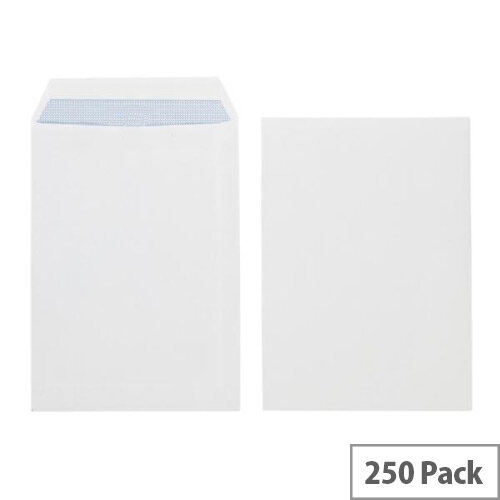 Q-Connect Pocket Envelopes B4 353x250mm Self Seal 100gsm White Pack of 250