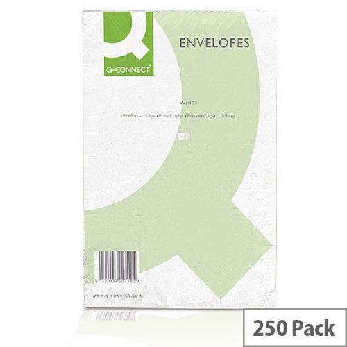 Q-Connect Envelope C4 100gsm Plain Peel and Seal White (Pack of 250)