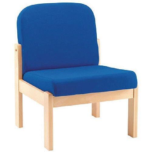 Arista Reception Wooden Frame Chair Blue KF03325