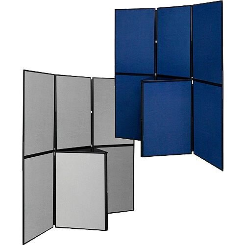 Display Board 7 Panel Double Sided Blue &Grey H900 x W600mm Q-Connect DSP330517