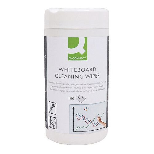 Whiteboard Cleaning Wipes Q-Connect KF17449
