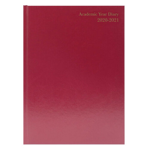 Academic Diary Day Per Page A4 Burgundy 2020-21 KF1A4ABG21