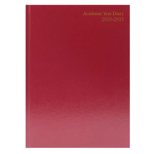 Academic Diary Diary Day Per A5 Burgundy 2020-21 KF1A5ABG21