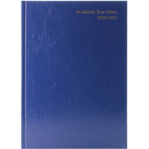 Academic Diary Diary Day Per A5 Blue 2020-21 KF1A5ABU21