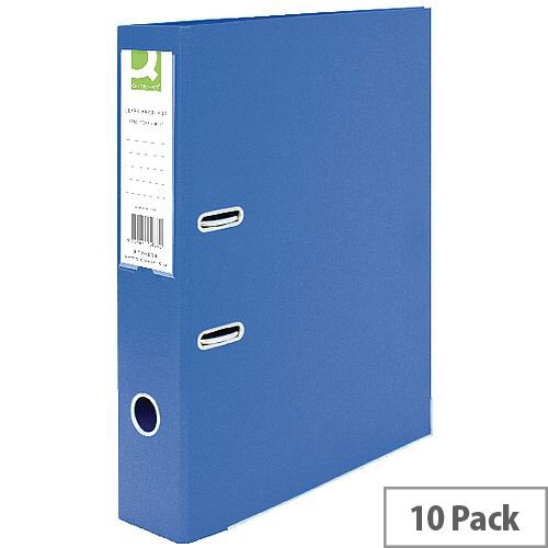 Q-Connect Lever Arch File Foolscap Polypropylene Blue 10 Pack