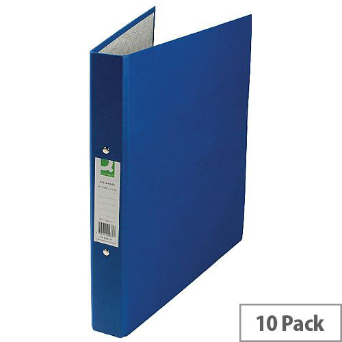 Q-Connect Blue A4 Paperbacked Ringbinder Pack of 10