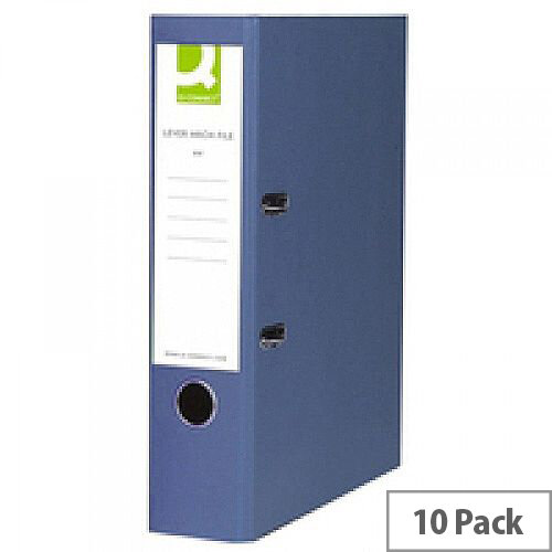 Q-Connect Blue A4 Paperbacked Lever Arch File Pack of 10
