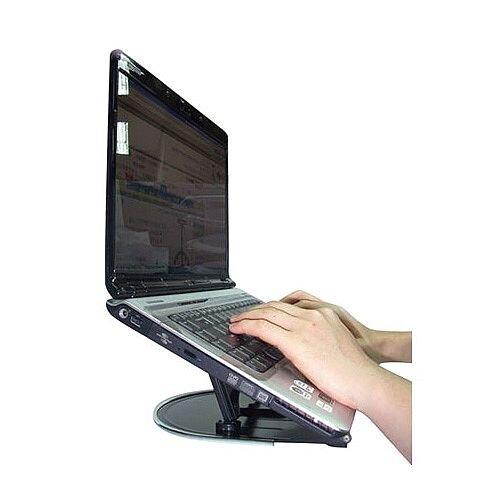 Q-Connect Aluminium Laptop Stand Black