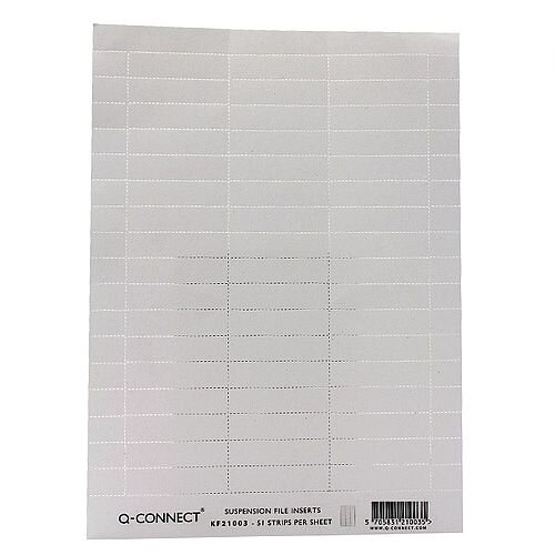 Q Connect Suspension File Insert White Pack of 50 KF21003