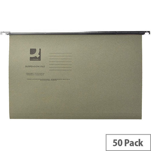 Vertical Suspension File Tabbed A4 Pack of 50 Q-Connect KF21004
