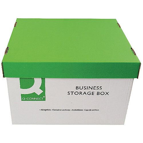 Q-Connect Business Archive Storage Box 335x400x250mm Pack 10 KF21660