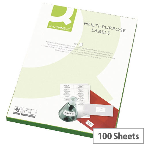 Q-Connect 24 Per Sheet Multi-Purpose Labels 64x339mm (2400 Labels)