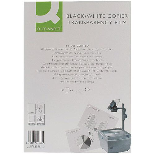 Q-Connect Clear OHP Transparency Film A4 Pack of 100