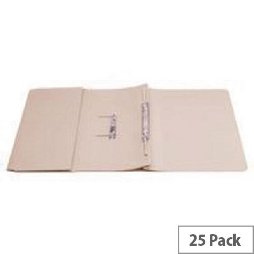 Q-Connect Transfer Pocket File Foolscap 38mm Capacity Buff Pack 25