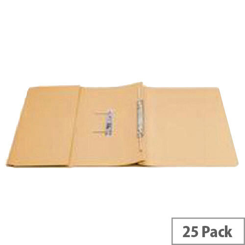 Q-Connect Transfer Pocket File Foolscap 38mm Capacity Orange Pack 25