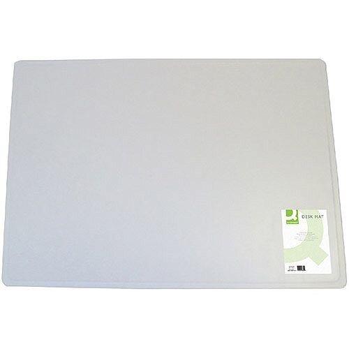 Q-Connect Desk Mat 400x530mm Transparent KF26800