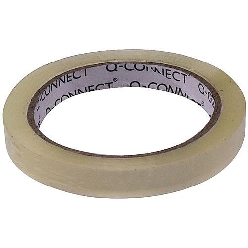 Q-Connect Easy Tear Polypropylene Tape 12mm x 66 Metres KF27015X