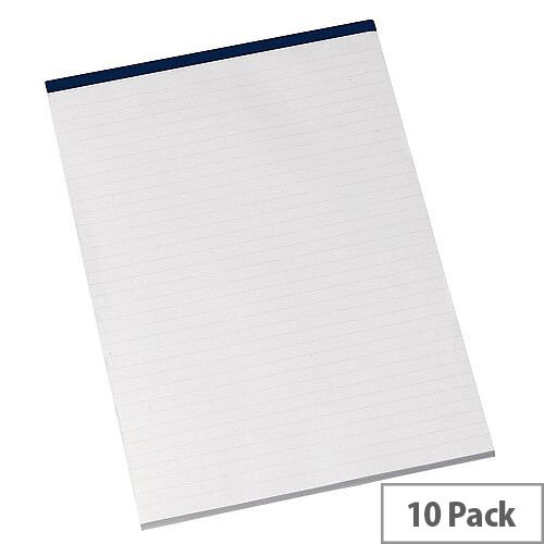 Q-Connect Memo Pad A4 80 Leaf Ruled Narrow Feint Pack of 10