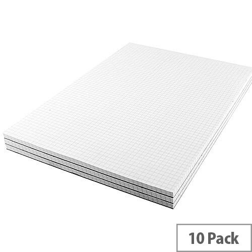 Q-Connect Memo Pad A4 80 Leaf Quadrille 5mm Pack of 10