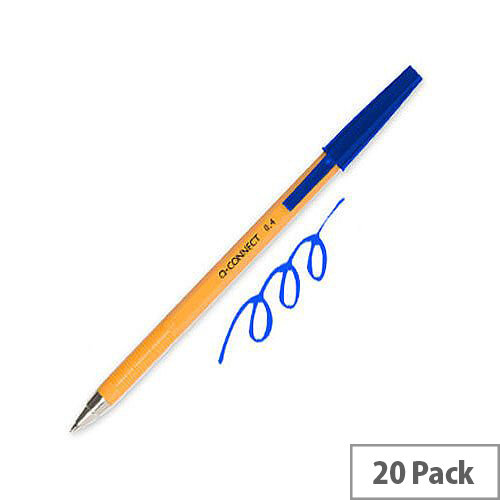 Q-Connect Ballpoint Pen Fine Blue Pack 20