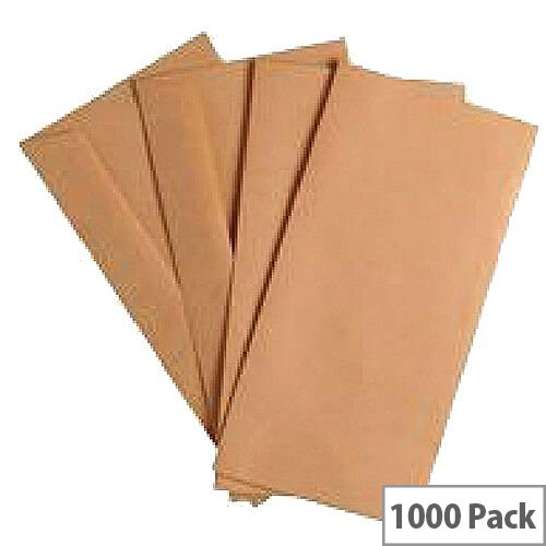Q Connect Envelope DL 70gsm Manilla Gummed Pack of 1000