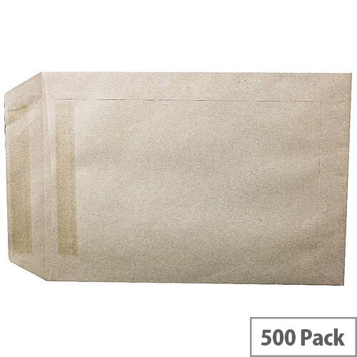Q-Connect  C5 Manilla Envelopes Pocket Self Seal 90gsm Pack 500 KF3441
