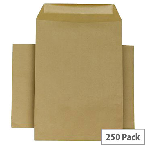Q-Connect Manilla Pocket Envelopes 254x178mm 115gsm Self Seal Pack of 250