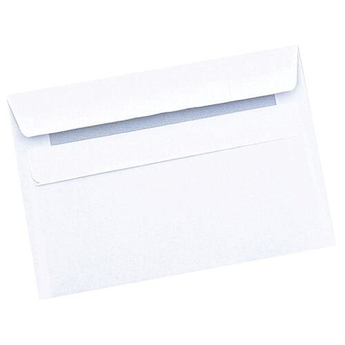 Q-Connect C6 Wallet Envelopes 90g Press Seal White Pack 1000 KF3472