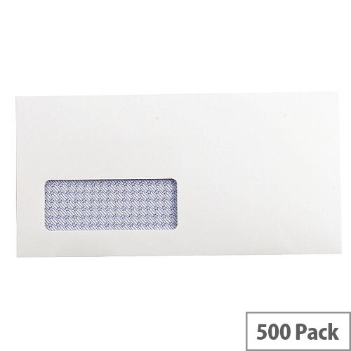 Q-Connect Envelope DL Low Window 100gsm White Self-Seal Recycled Pack of 500 KF3505