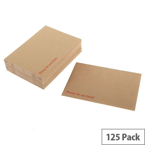 Q-Connect Board Back Manilla Envelopes 318x267mm 115gsm Peel and Seal (125 Pack)