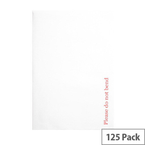 Q-Connect Board Back C4 Envelopes 120gsm Peel and Seal White (125 Pack)