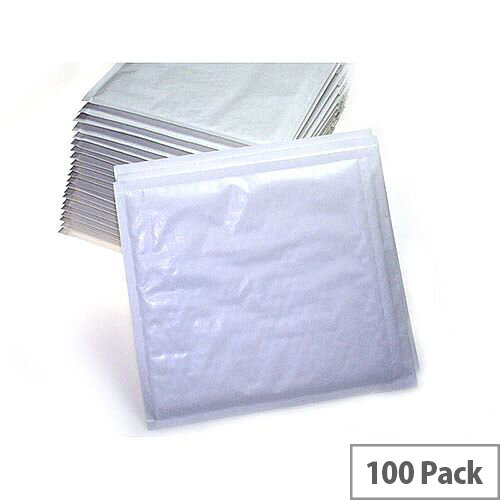 Q-Connect B4 Padded Gusset Envelopes 353x250mm White Pack of 100
