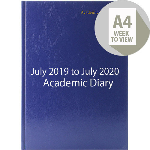 Academic Diary Week to View 2019-20 A4 Blue KF3A4ABU19