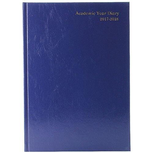 Academic Diary Week to View 2017/18 A5 Blue KF3A5ABU17