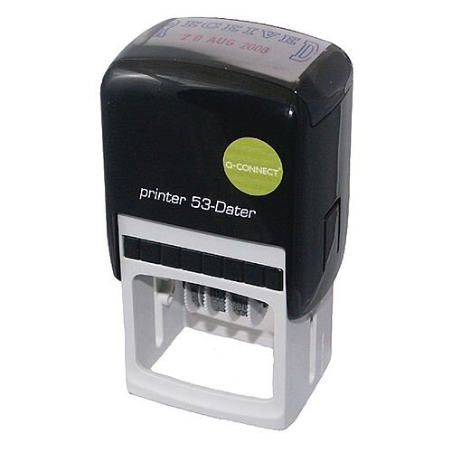 Q-Connect Custom Date Self-Inking Stamp 43x28mm KF71433