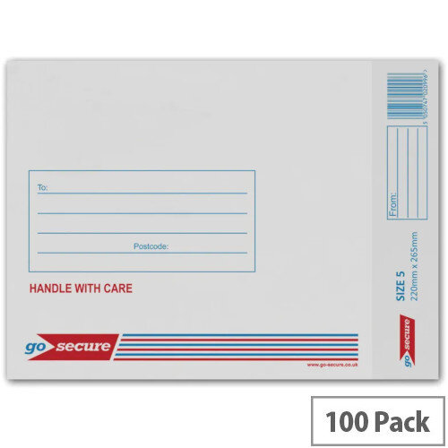 Q-Connect White No.5 Bubble-Lined Envelopes (Pack of 100)