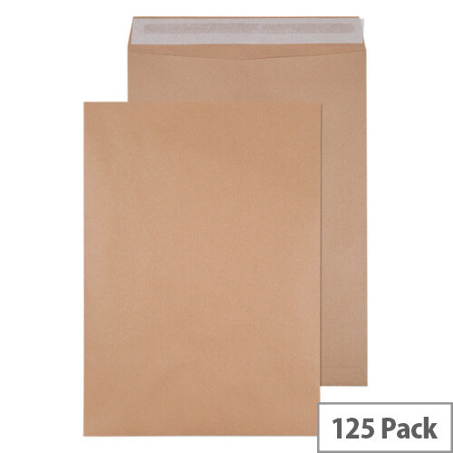 Q-Connect Pocket Envelopes 458x324mm 135gsm Self Seal Manilla Pack of 125