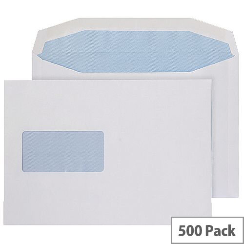 Q-Connect Envelope C5 Window 100gsm Self Seal White (Pack of 500) 9007500