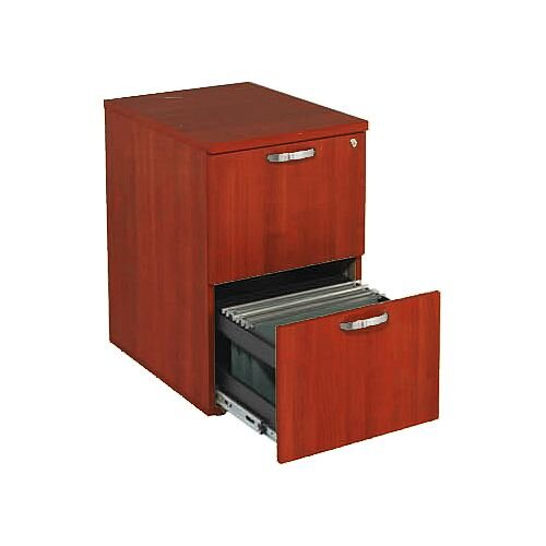 2-Drawer Wooden Filing Cabinet Cherry Avior